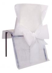 10 Housses de chaise blanc avec noeud