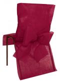 10 Housses de chaise bordeaux avec noeud