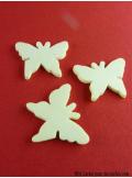 15 Papillons gomme écru
