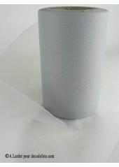20M Tulle 8cm déco gris