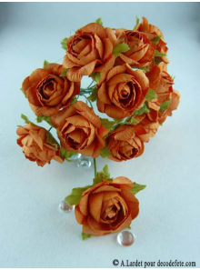 12 Roses ouvertes orange