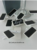 12 petites ardoises blanche