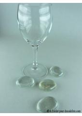 12 Galets de verre transparent