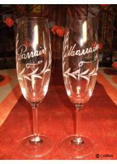 1 Flute à champagne Parrain ou Marraine