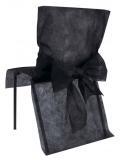10 Housses de chaise noir avec noeud