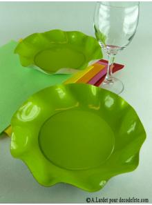 10 Coupelles vert anis