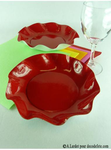 10 Coupelles rouge