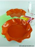 10 Coupelles orange