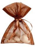 10 Sachets organdi chocolat