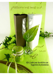 5M Chemin de table je t'aime vert anis