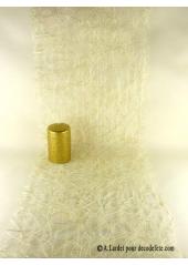 5M Chemin de table sisal ivoire/or