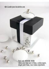 10 petits cubes MIROIR & NOIR