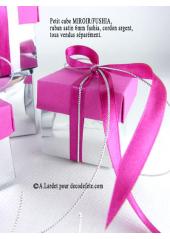 10 petits cubes MIROIR & FUSHIA
