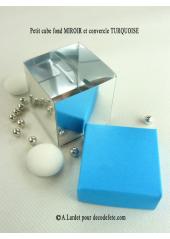 10 petits cubes MIROIR & TURQUOISE