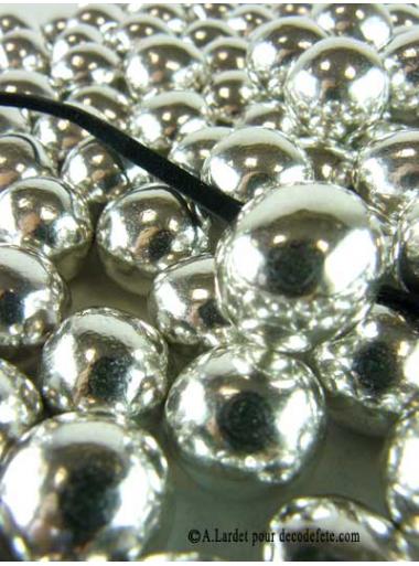 500gr Dragées Grosses Perles Argent