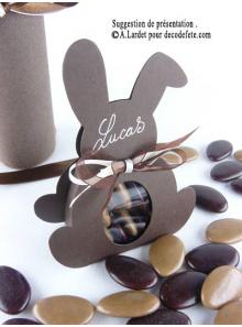 6 boîtes lapin CHOCOLAT