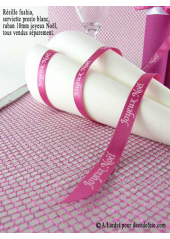 5M chemin de table RESILLE fushia