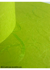 5 Menus feuille de soie vert avocat