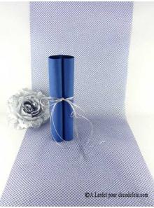 5M chemin de table RESILLE bleu roy