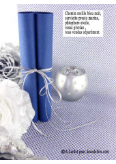 5M chemin de table RESILLE bleu roy