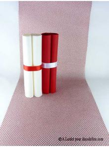 5M chemin de table RESILLE rouge