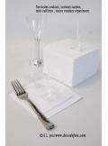 50 Serviettes cocktail blanc
