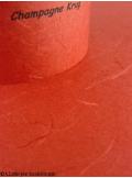 5 Menus feuille de soie rouge