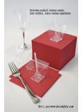 50 Serviettes cocktail bordeaux