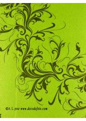 25 Serviettes HARMONY vert anis (kiwi)
