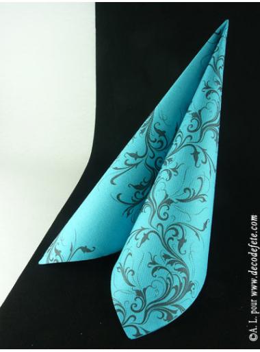 25 Serviettes HARMONY turquoise