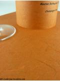 5 Menus feuille de soie brique