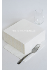 40 Serviettes ECO blanc