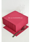 40 Serviettes ECO bordeaux