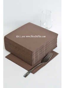 40 Serviettes ECO chocolat