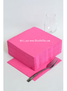 40 Serviettes ECO rose fushia