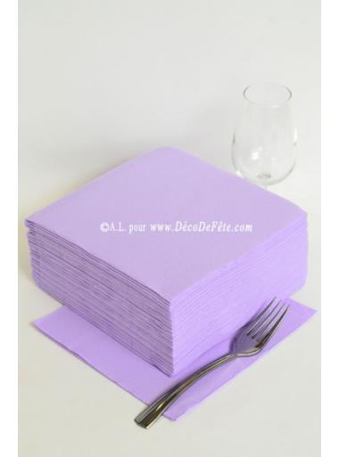 40 Serviettes ECO lilas