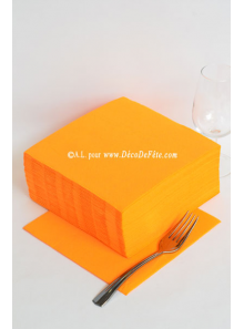 40 Serviettes ECO orange