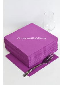 40 Serviettes ECO prune aubergine
