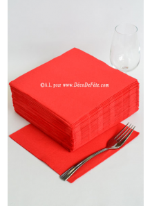 40 Serviettes ECO rouge