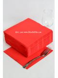 40 Serviettes ECO rouge