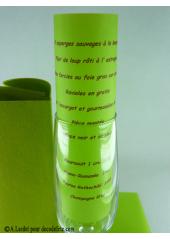 5 Menus calque vert anis