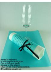 5 Menus calque turquoise