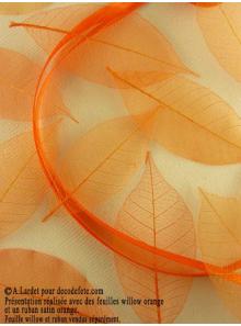 20 Feuilles willow orange