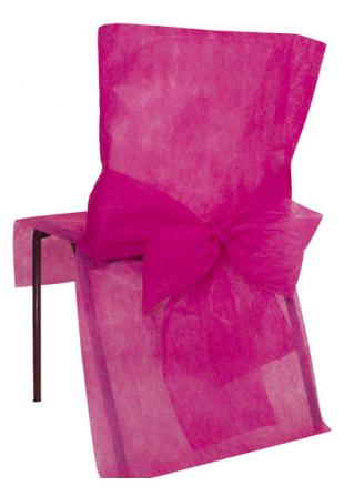 housse de chaise noir et fushia. Black Bedroom Furniture Sets. Home Design Ideas