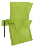 10 Housses de chaise vert anis avec noeud