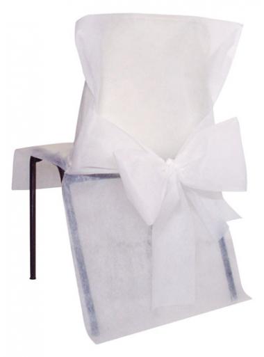 10 housses de chaise blanc. Black Bedroom Furniture Sets. Home Design Ideas