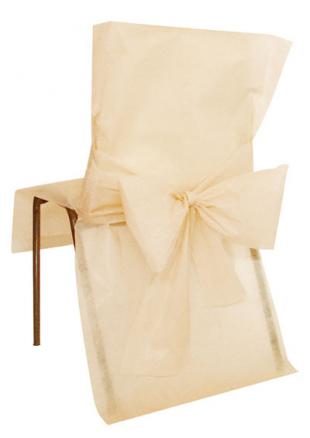 10 housses de chaise ivoire. Black Bedroom Furniture Sets. Home Design Ideas