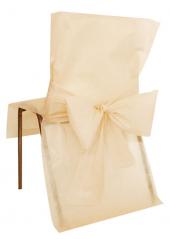10 Housses de chaise ivoire avec noeud