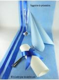 10M Chemin de table SUBLIM bleu ciel