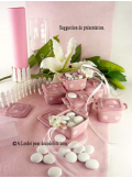 10M Chemin de table SUBLIM rose tendre